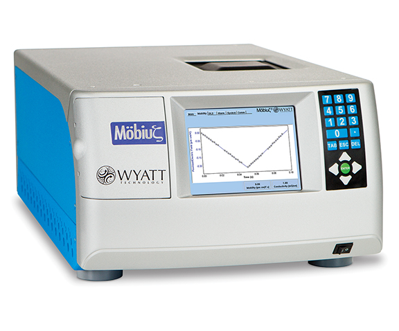 mobius-atlas, MP-PALS, zeta potential, zeta potential instrument, zetasizer, electrophoretic mobility, isoelectric point, dn/dc